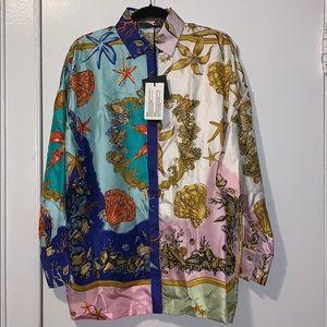 Versace Trèsor De La Mer Silk Shirt